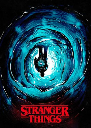 2010's Movie - STRANGER THINGS - THE UPSIDE DOWN canvas print - self adhesive poster - photo print